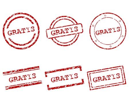 gratis: Gratis stamps