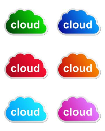 Cloud label Vector
