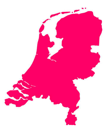 Map of the Netherlands Stock Vector - 13551834