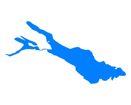 Map of Lake Constance  イラスト・ベクター素材
