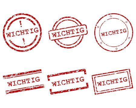 wichtig: Wichtig stamps Illustration
