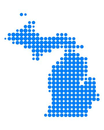 Map of Michigan Stock Vector - 13734061