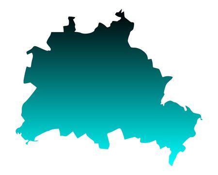 Map of Berlin Stock Vector - 13840150