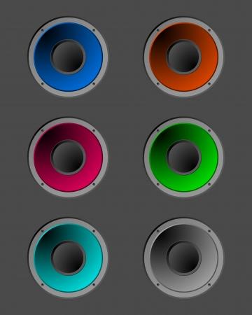 Coloured speakers Stock Vector - 13840179