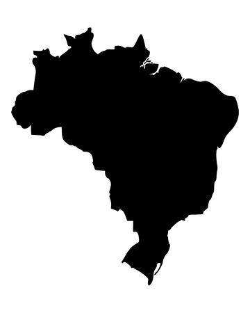 Map of Brazil  イラスト・ベクター素材