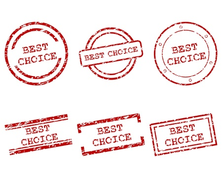 best choice stamps Stock Vector - 13955972
