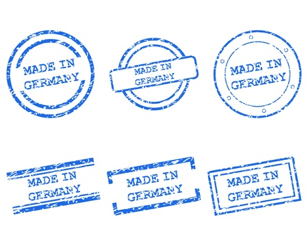 Made in Germany stamps Stock Vector - 13992645