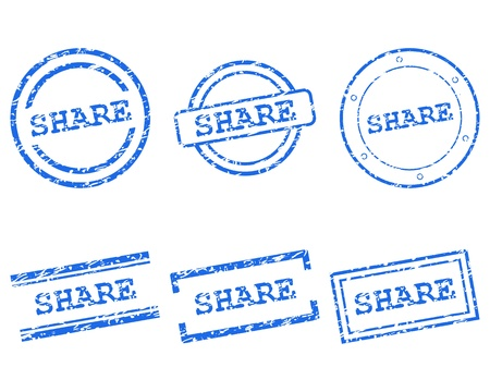 Share stamps Stock Vector - 13992643
