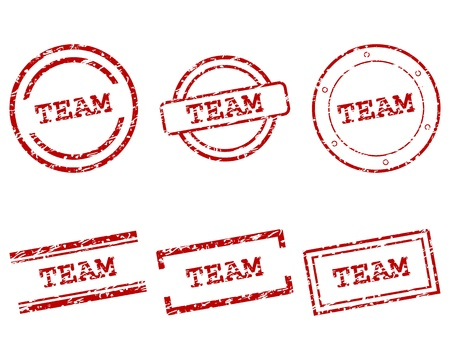Team stamps Stock Vector - 13992642
