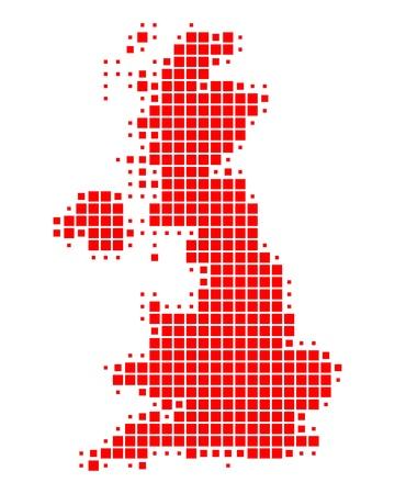 isles: Map of Great Britain Illustration