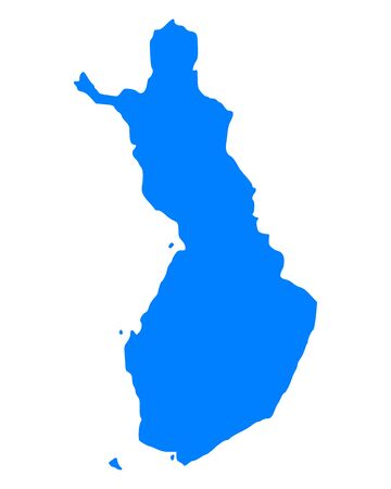 suomi: Map of Finland Illustration