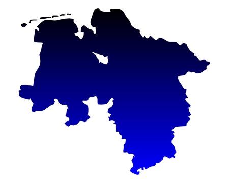 saxony: Map of Lower Saxony
