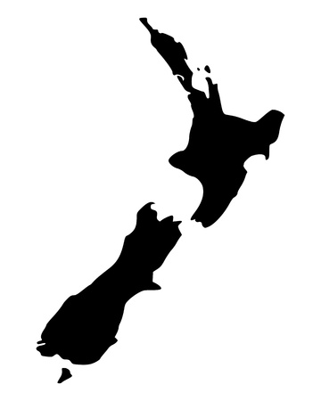 new zealand: Map of New Zealand