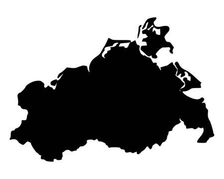 Map of Mecklenburg-Vorpommern Stock Vector - 14358740
