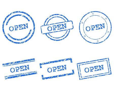 Open stamps Stock Vector - 14555265