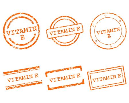 Vitamin E stamps Stock Vector - 14586343