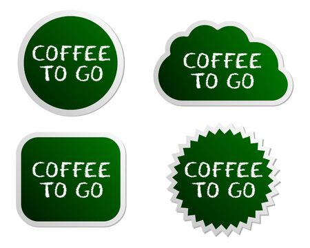 go to store: Coffee to go buttons