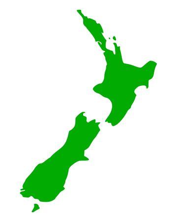 new zealand: Map of New Zealand