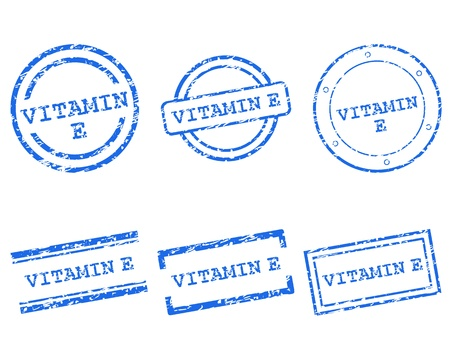 Vitamin E stamps Vector