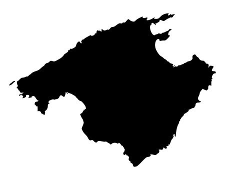 Map of Mallorca Vector
