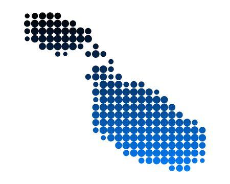 malta: Kaart van Malta