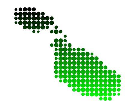 몰타의지도