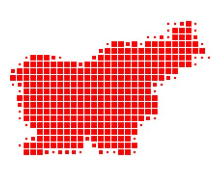 Map of Slovenia Stock Vector - 14726091