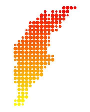 Map of Gotland