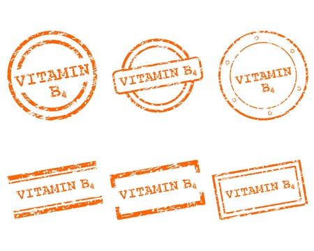 Vitamin B4 stamps Stock Vector - 14906242