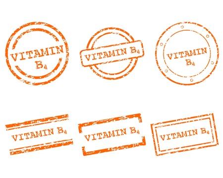 Vitamine B4 postzegels
