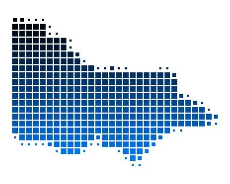 map of australia: Map of Victoria Illustration