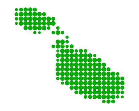 malta: Kaart van Malta Stock Illustratie