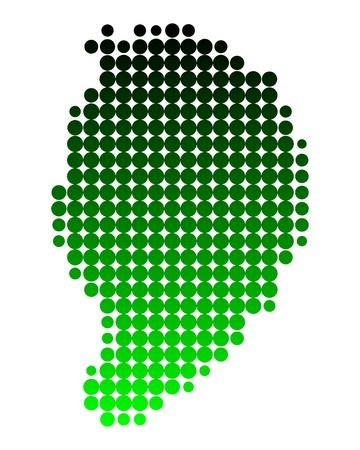 azores: Map of Corvo