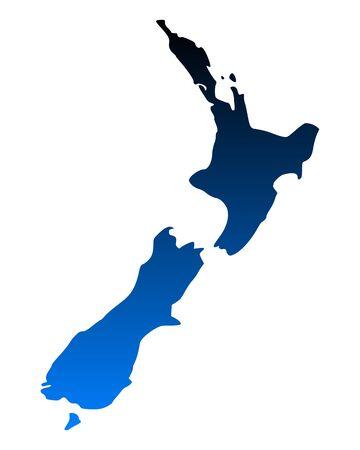 Map of New Zealand Stock Vector - 15309490