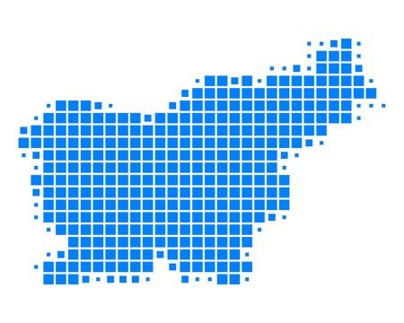 Map of Slovenia Stock Vector - 15310999