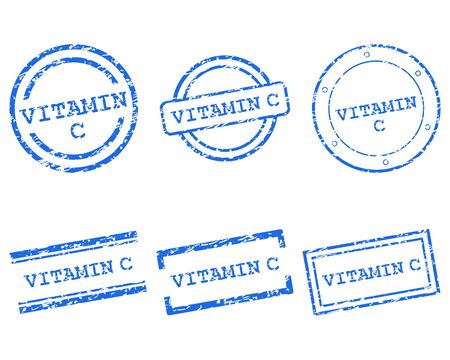 vitamin c: Vitamin C stamps Illustration
