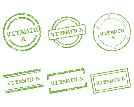 Vitamin A stamps Stock Vector - 15311059