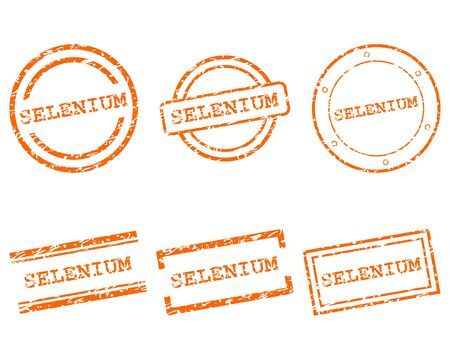 selenium: Selenium stamps Illustration