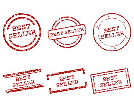 best seller: Bestseller Briefmarken Illustration