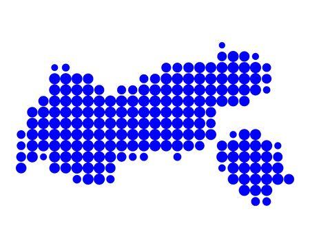 チロル: チロルの地図  イラスト・ベクター素材