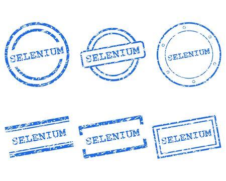 Selenium stamps Illustration