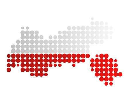 tyrol: Map and flag of Tyrol Illustration
