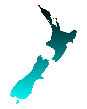 Map of New Zealand Stock Vector - 15379725