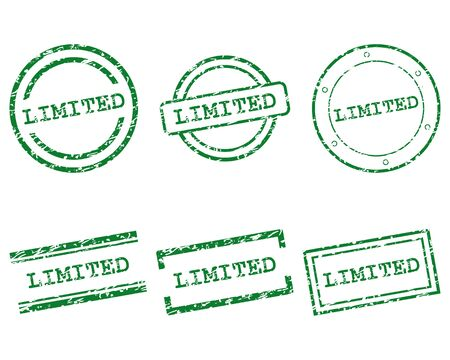 limited: Limited stamps Illustration