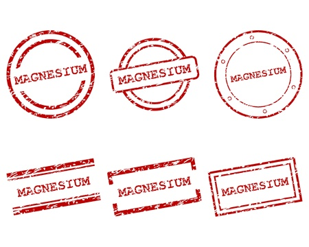 magnesium: Magnesium stamps Illustration