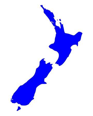 Map of New Zealand Stock Vector - 15474485