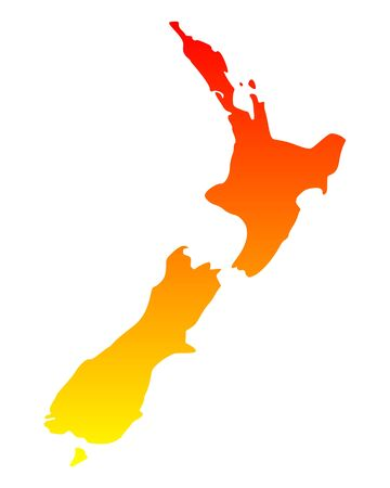 Map of New Zealand Stock Vector - 15553672
