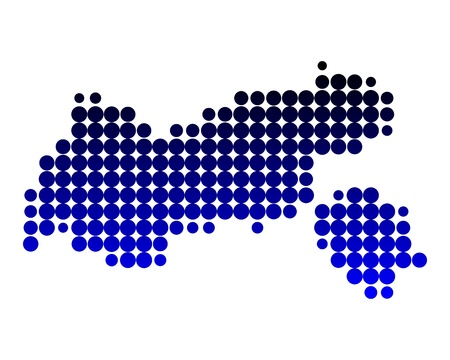 Map of Tyrol Stock Vector - 15553684