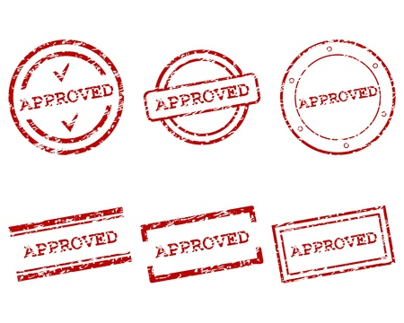 Approved stamps Stock Vector - 15710516