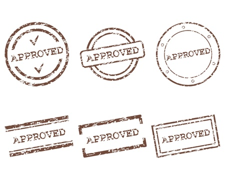 Approved stamps Stock Vector - 15738059